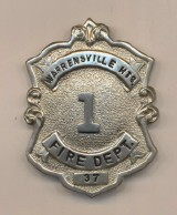 Warrensville Heights Fire Department Chief's Badge
