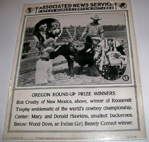 1925 Oregon Rodeo Round-Up Poster