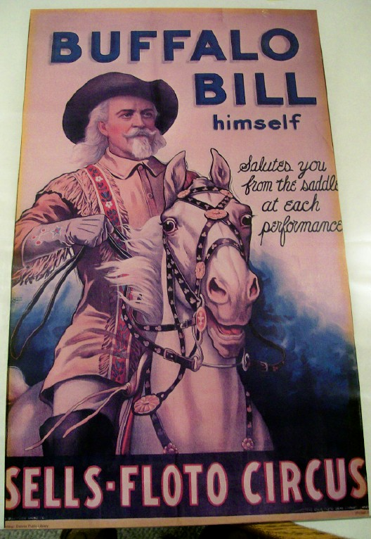 Sells-Floto Circus Poster Featuring Buffalo Bill