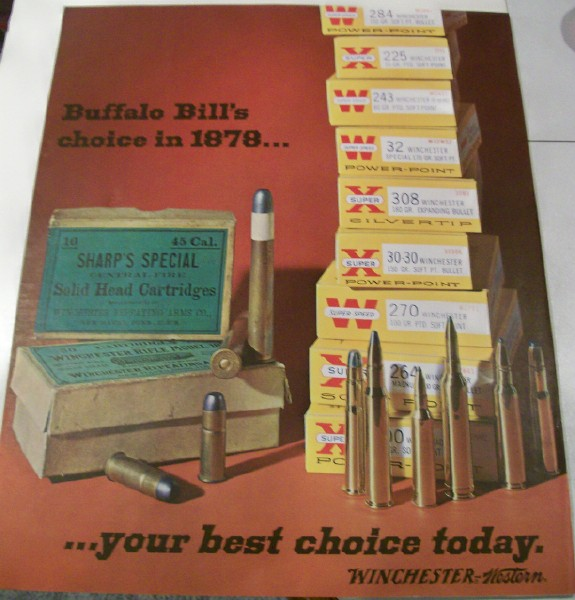Winchester Ammo Poster With Buffalo Bill Endorsement