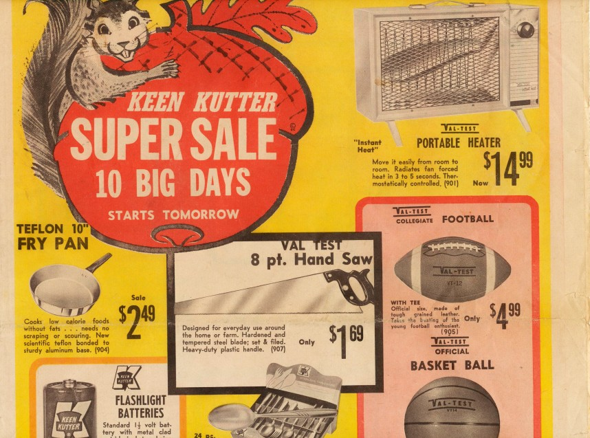 1950s Keen Kutter Sales Lit+1944 Keen Kutter Mag Rear Cover Ad