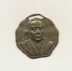 Saturday Evening Post Sales Award Medallion W/Benjamin Franklin