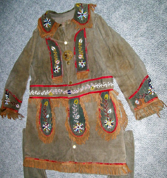 Pawnee Bill's Wild West Show Beaded/Fringed 2Pc Wild West Outfit