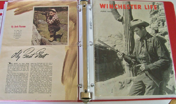 Winchester Herb Parsons Photo Album-Parsons/Topperwein Autograph