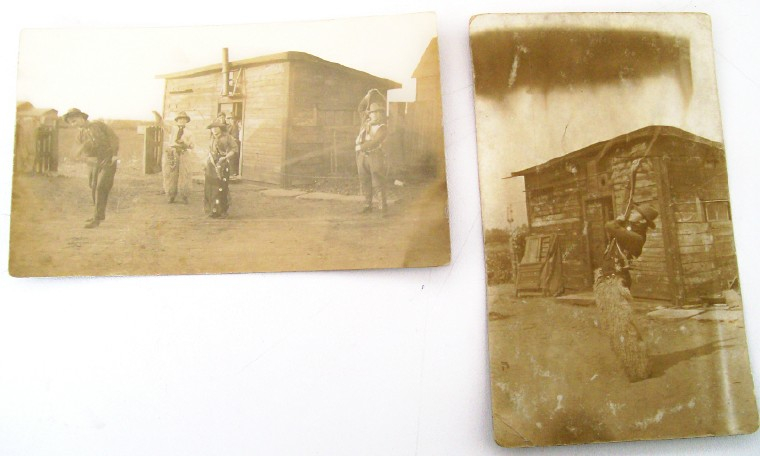2 Photo Postcards--Ropers At Stagecoach/Pony Express Stations