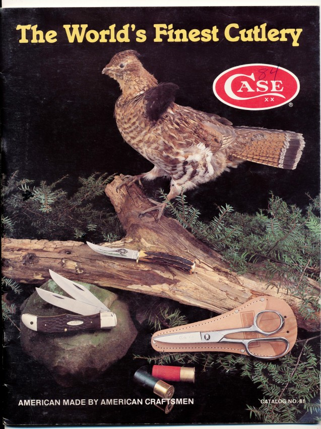 1981 Case Cutlery Knife Trade Catalog