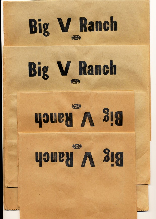 Rare Company Store Bags From The Big V Ranch-101 Ranch Neighbor