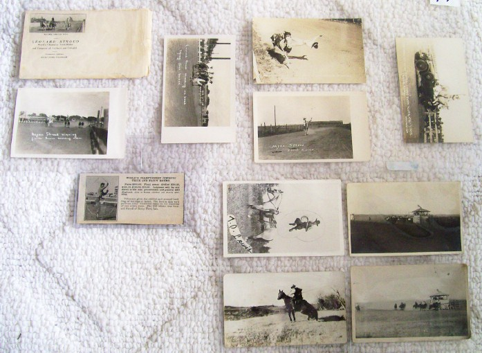 Leonard Stroud World's Champion Trick Rider 7 Real Photos+Book