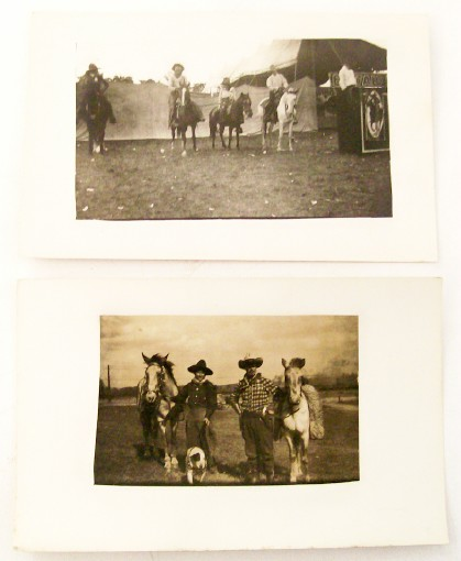 Buffalo Bill Wild West Show Real Photo Postcards