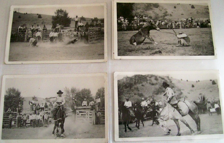 13 Real Photo Postcards From Deer Lodge Montana Rodeo