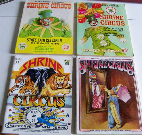 Lot Of 1970s-1980s Shrine Circus Programs