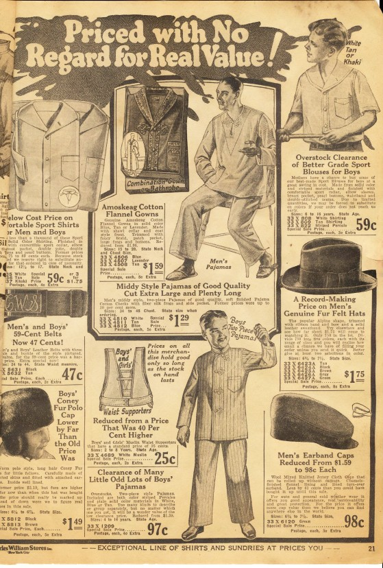 1925 Charles William NYC Clothing Store Catalog