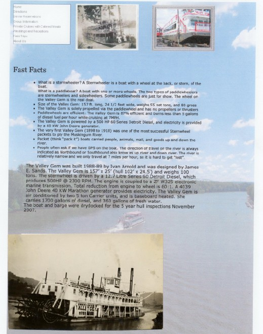 Vintage Valley Gem Sternwheeler Photo - Paddle Wheeler
