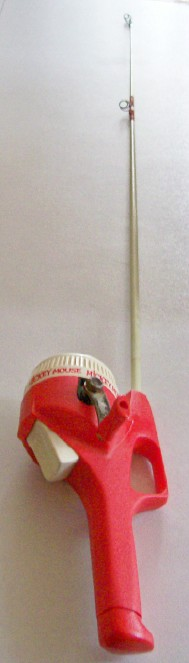 Vintage Walt Disney Mickey Mouse Fishing Rod & Reel