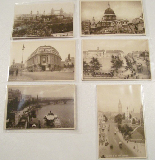 6 Early Postcards From London England