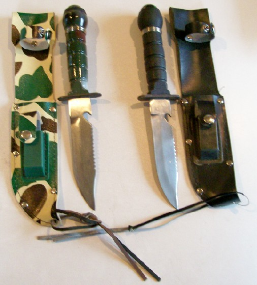 Lot Of 2 Army Survival Knives