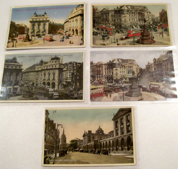 5 Photo Postcards From Piccadilly Circus In London