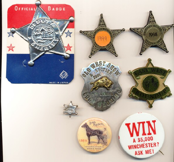 Mixed Western Badge & Pinback Lot