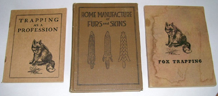 Lot Of 1916-1955 Fur Trapping Books