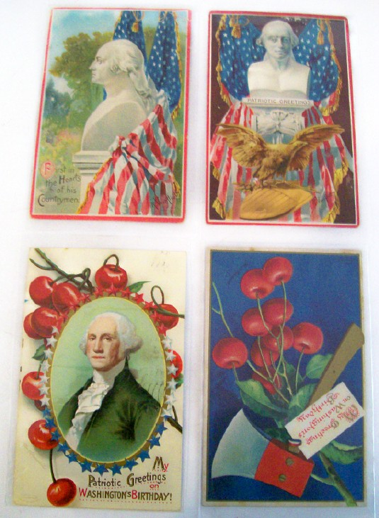 Washington's Birthday Artist Signed German Postcards 1913-1915