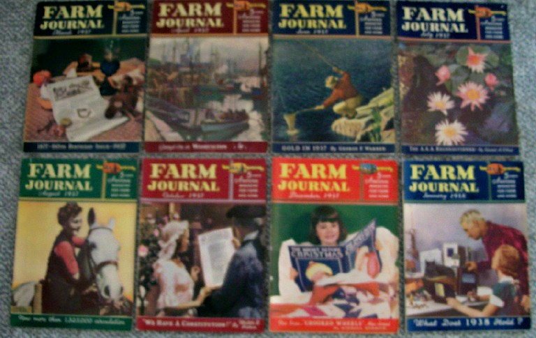 1930s Farm Journal Magazine Lot - Famous Color Cartoon Features