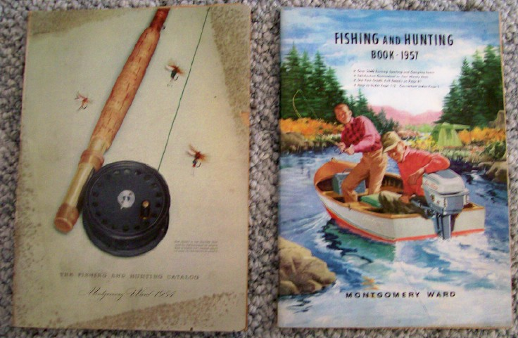 1954 & 1957 Montgomery Ward Fishing & Hunting Catalogs