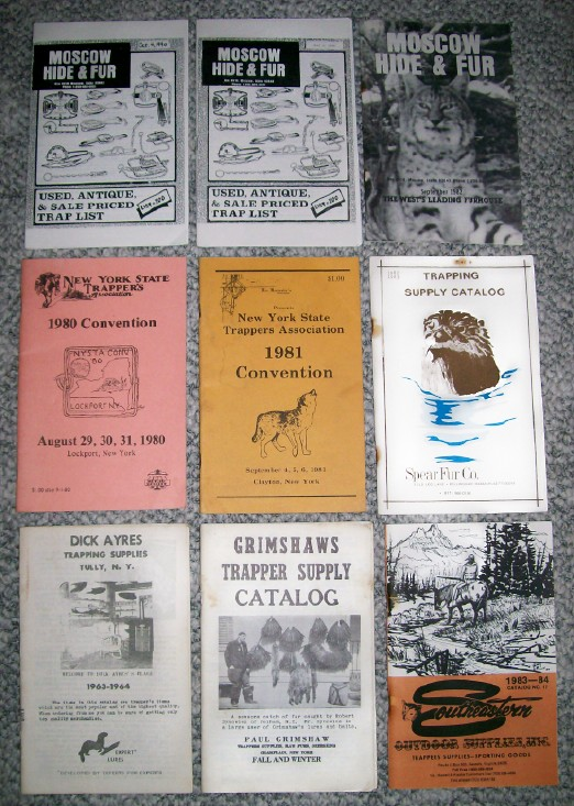 1960s-90s Lot Of Trapping Catalogs & Convention Programs
