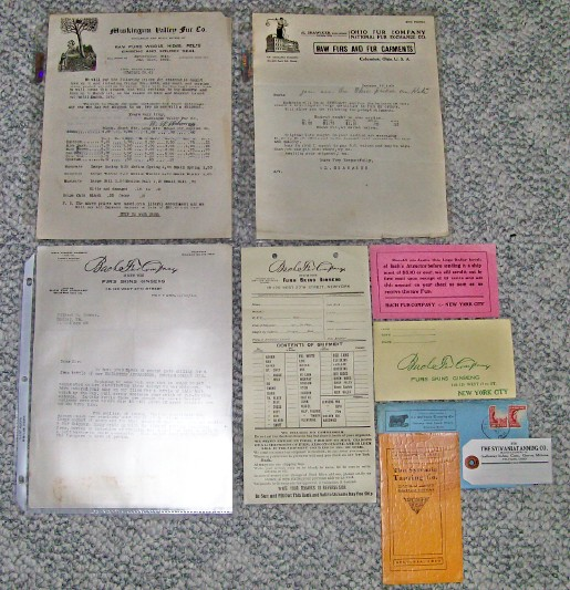 1911-1922 Lot Of Fur Buyer Advertising From 4 Companies