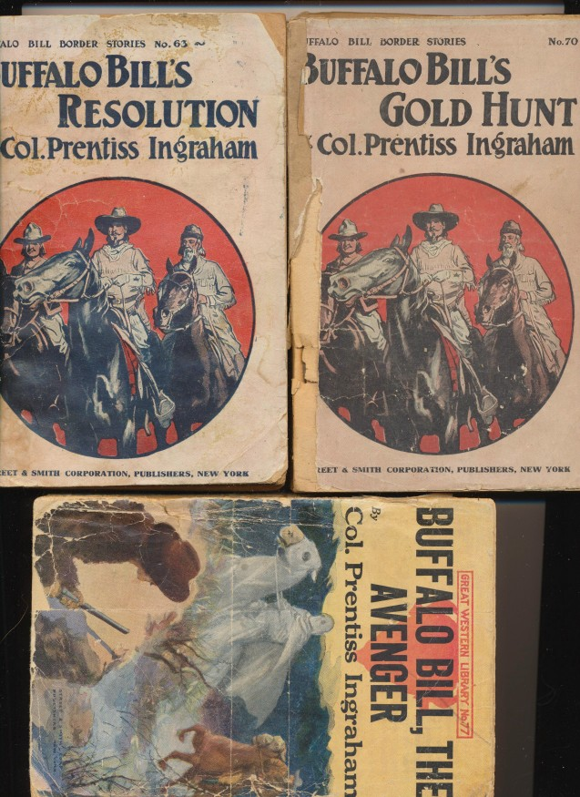 Buffalo Bill Pulp Fiction Novels - Col Prentiss Ingraham 1904-08