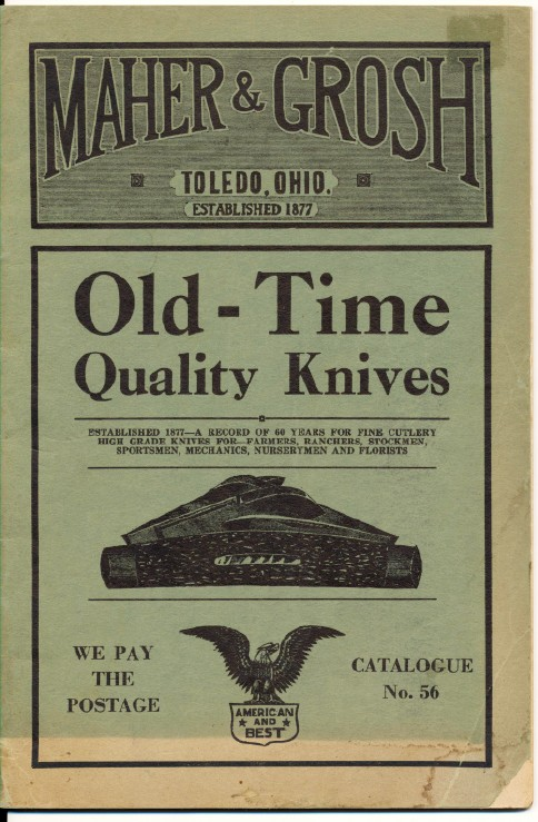 1937 Maher & Grosh Cutlery Catalog--Knives Tools Razors Binocula