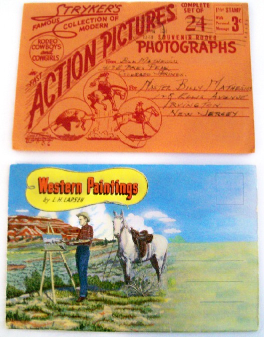 2 Great Western Postcard Folders