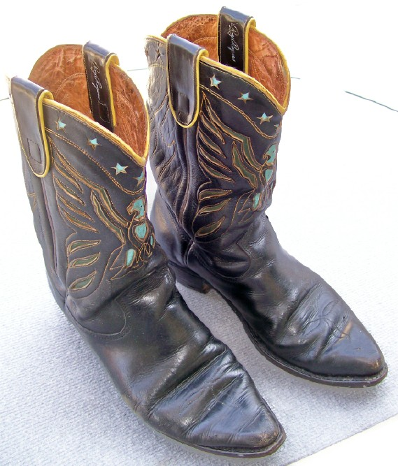 Roy Rogers 1950s Owned & Worn Tooled Leather Cowboy Boots