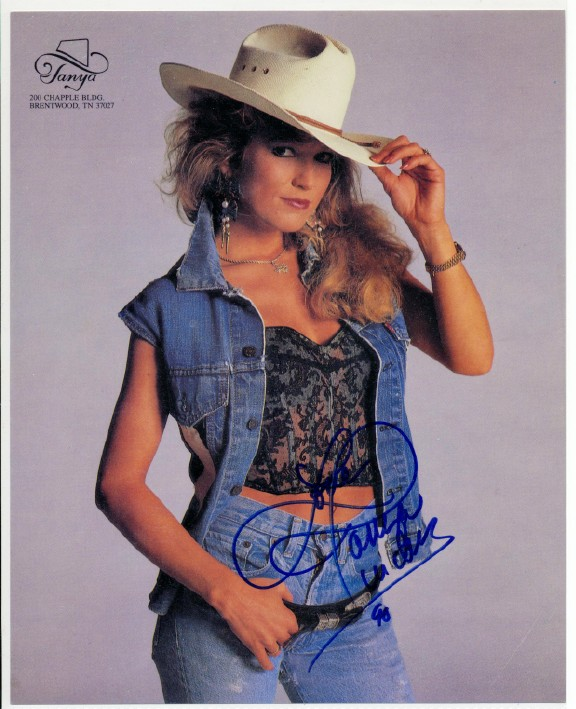 Tanya Tucker Autographed Cowgirl Hat & Autographed Color Photo