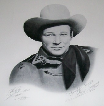 Roy Rogers Autographed Ltd Ed Artist Signed Portrait With COA