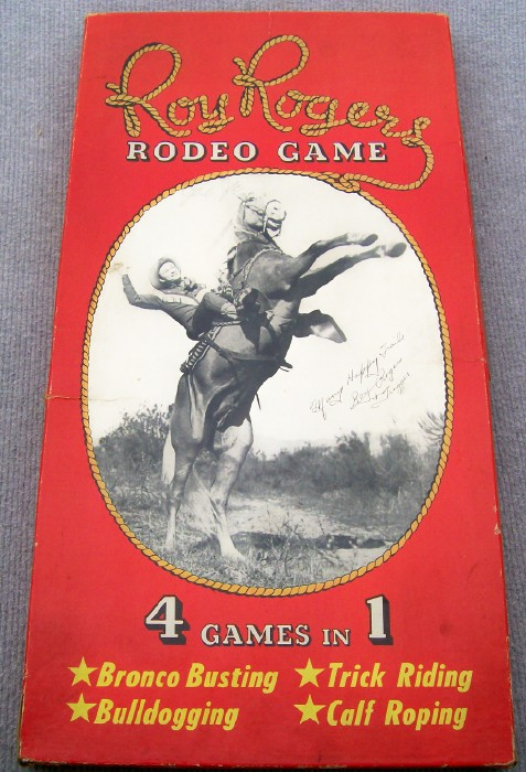 1949 Roy Rogers Rodeo Board Game By Rogden - 4 Games In 1