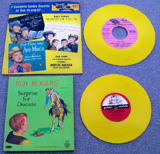Vintage Roy Rogers Records Story Book & Movie Studio Pencil