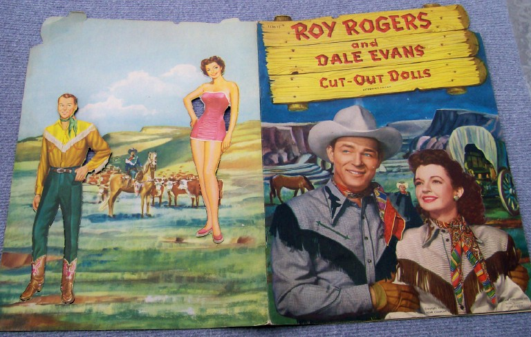 Vintage 1950 Roy Rogers & Dale Evans Cut Out Paper Dolls