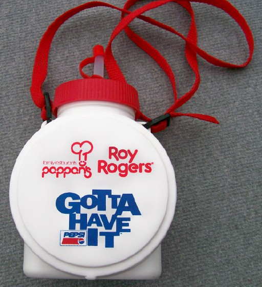 Roy Rogers Plastic Canteen Advertising Pappans & Pepsi