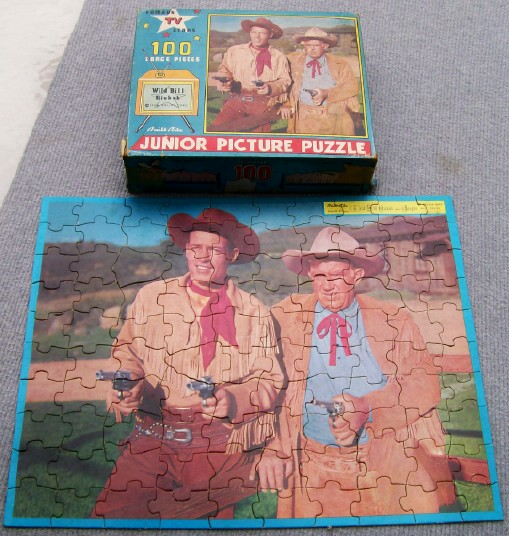 1956 Wild Bill Hickok & Jingles Boxed Jigsaw Puzzle