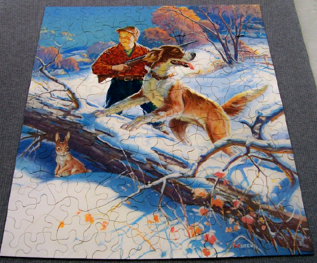 1940s Boy Hunting With Winchester 22 Rifle Boxed Jigsaw Puzzle