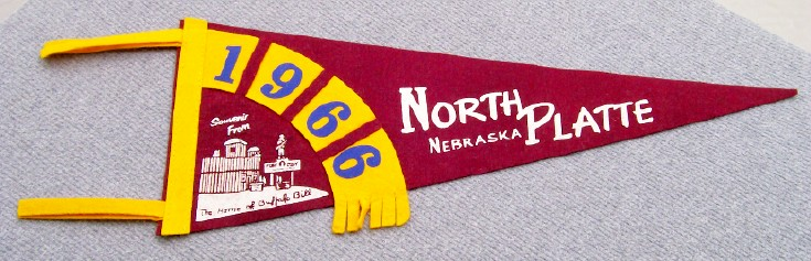 1966 Soft Felt Pennant - Buffalo Bill's Home - North Platte NE