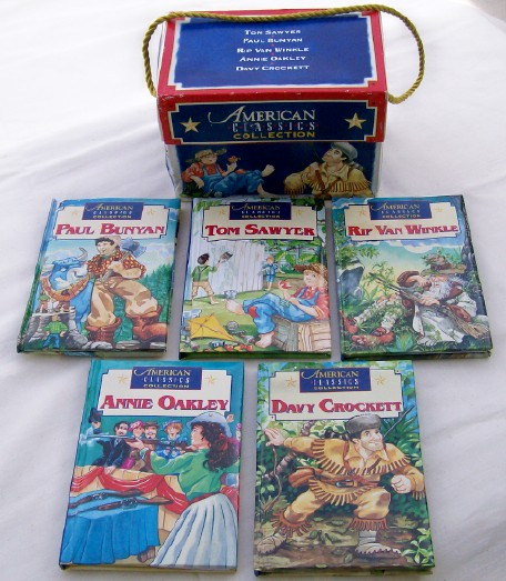 American Classics Boxed Book Set - Annie Oakley Davy Crockett ++