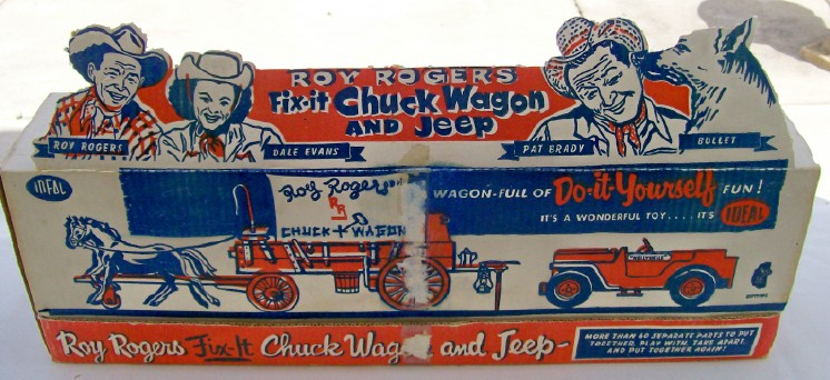 Roy Rogers Fix It Chuck Wagon & Jeep W/Original Box - By Ideal