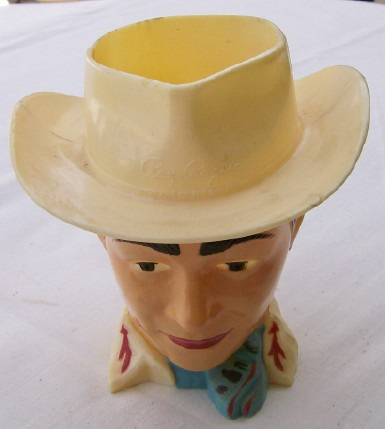 1950s Roy Rogers Figural Drinking Cup - Quaker Cereal Premium