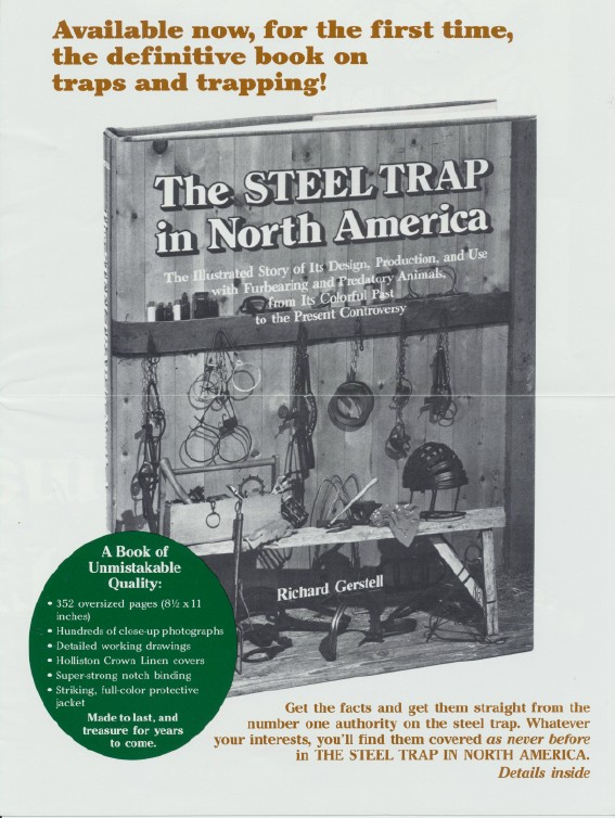 Steel Trap In America Book Ad Brochure & Presentation Certificat
