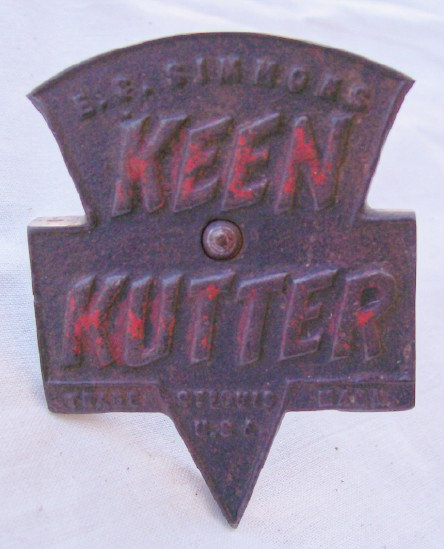Keen Kutter Embossed Trade Mark Logo Locking Device With Gear