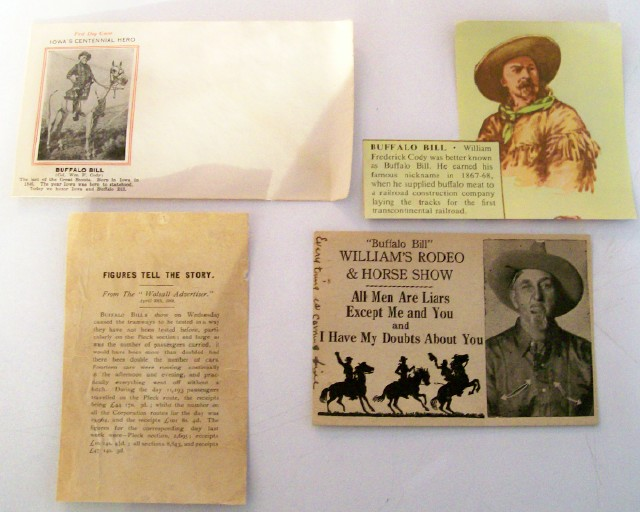 4 Buffalo Bill Collectible Items