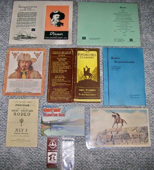 Lot Of 1930s-1960s Buffalo Bill & Rocky Mountain Memorabilia