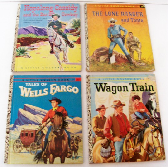 Hopalong Cassidy-Wells Fargo-Lone Ranger-Wagon Train Books