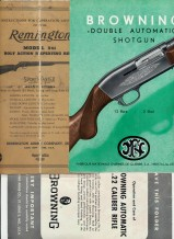 3 Browning & Remington Gun Operation & Care Brochures